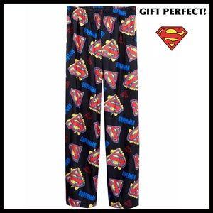 SUPERMAN PJ PANTS BIG BOY PAJAMAS